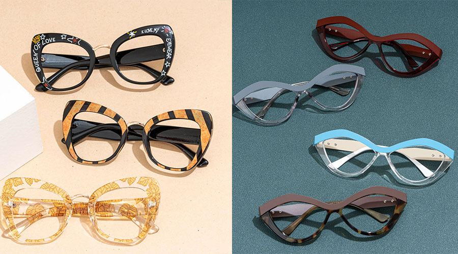 Cat Eyeglasses for Round Face