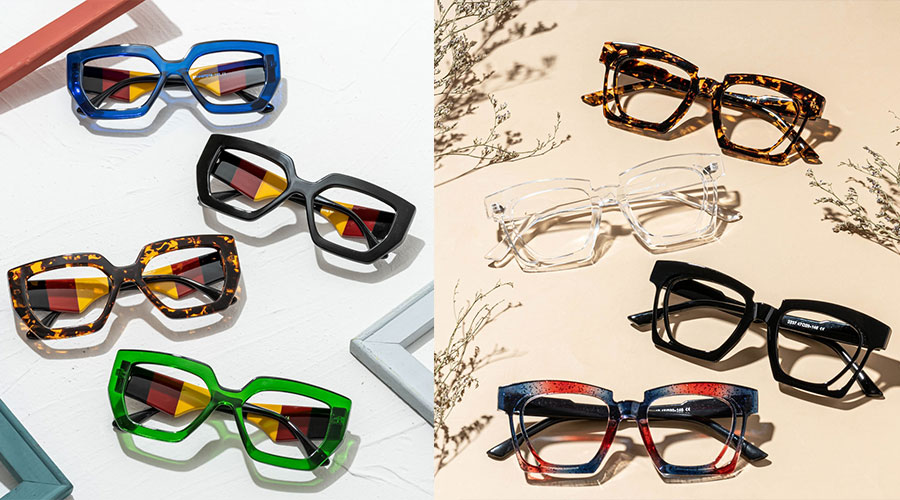Square Eyeglasses for Round Face