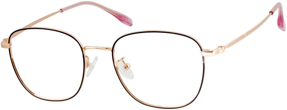 HF HL1021 Square is composed of metal material and full of new-fashioned sense. The contrast between sleek metal and classical retro oversize shaped design makes these full-rim eyeglasses uniquely trendy. This design catches people's eyes easily and adjustable nose pads and lightweight temple arms keep the look both functional and trendy.