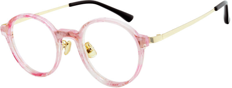 ORCHY 8889 has a cute, youthful and vibrant round appearance, and this frame will definitely make your life vibrant! With this pink frame, you will definitely stand out. Pink glasses match the natural sheen. Translucent pastel pink acetate finish, round lenses and large keyhole bridge. Give you different youthful vitality!