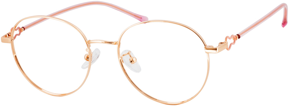 VK 19177 Round Glasses have lovely round frame and exquisite gourd temple arm decoration, smooth frame lines, extremely slim rim, brief but not simple, adjustable nose pads make this glasses more suitable for your face, fashionable model makes it suitable for any occasion.