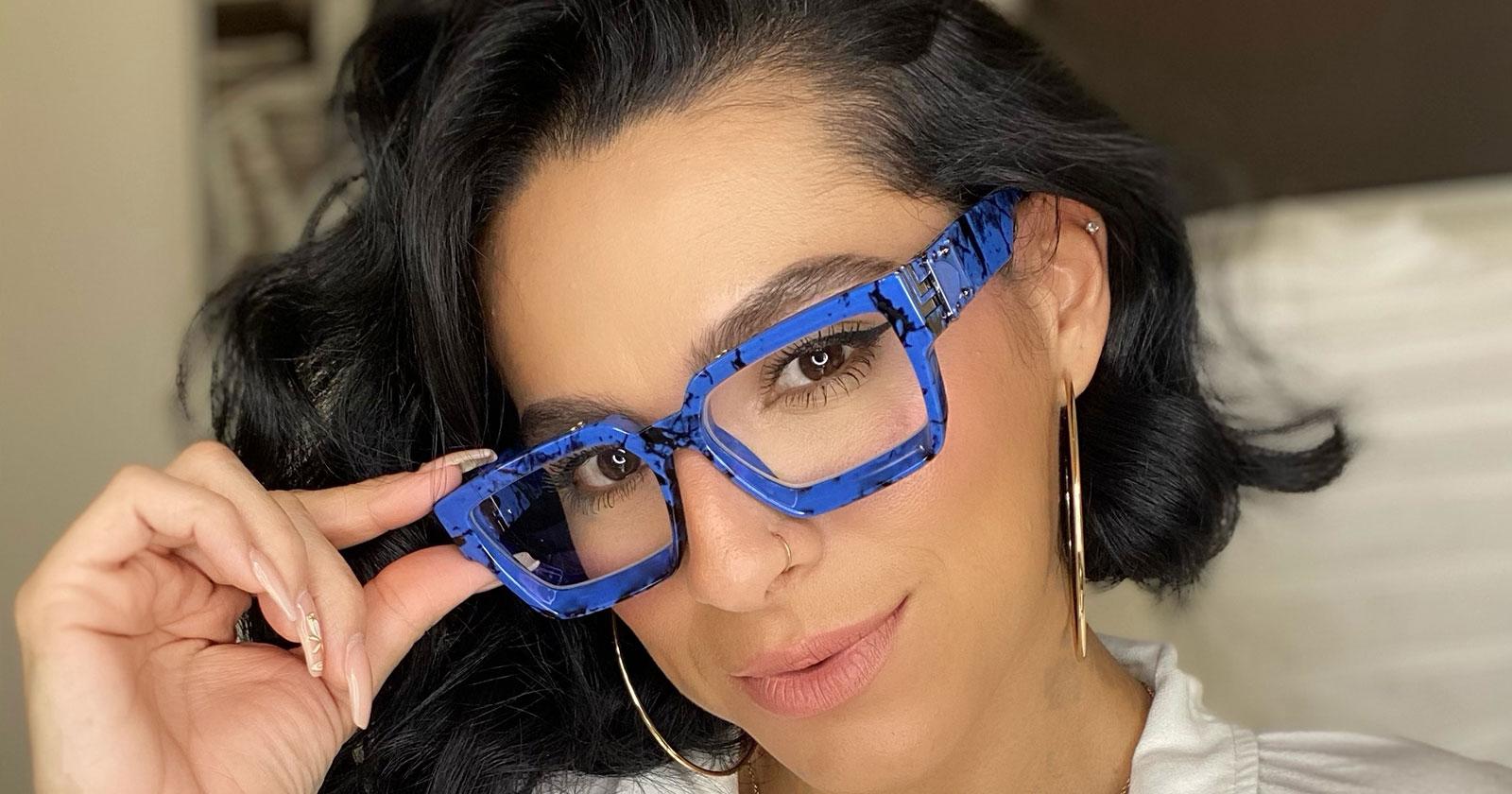 Blue Color Frames Eyeglasses