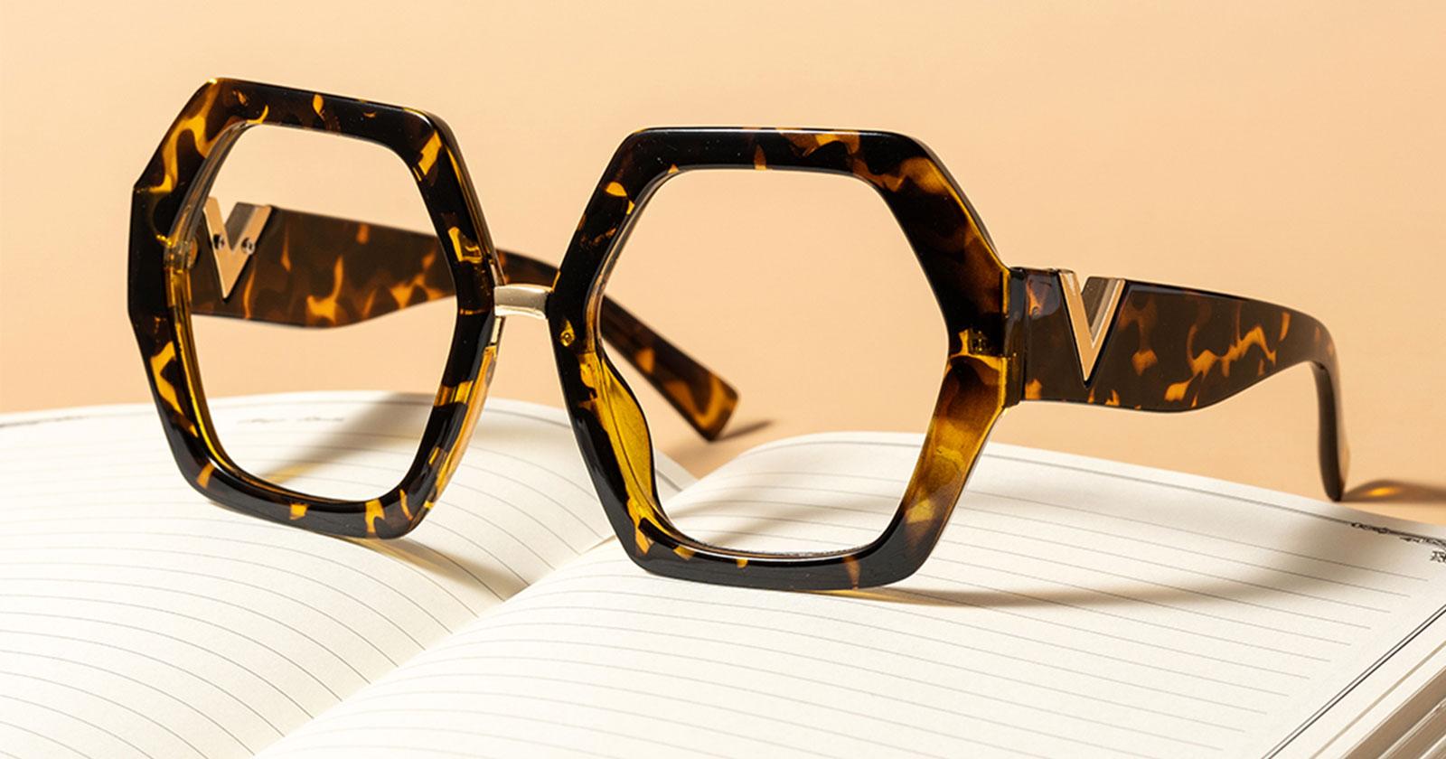Thick Rimmed Geometric Glasses Frames