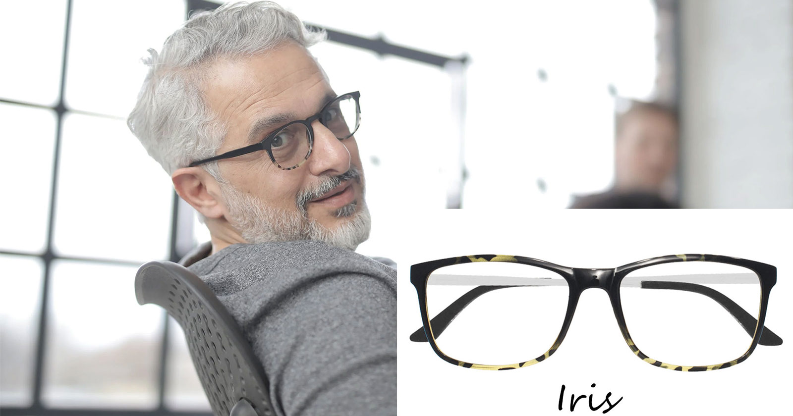 How to Find the Right Glasses for Grey Hair | Vlookoptical™